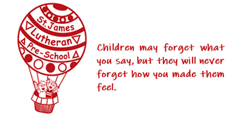 St. James Lutheran Preschool Logo with Quote